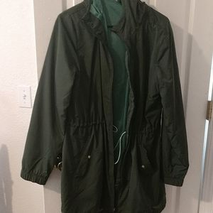 Old Navy Active green windbreaker, sz L